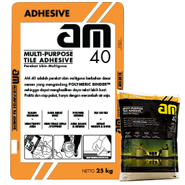 BPI AM 40 TILE ADHESIVE GREY 25KG