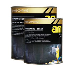 BPI AM 153 STONE COATING-BLACK 1L